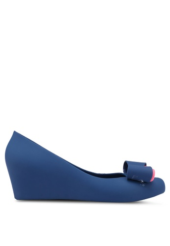 Twenty Eight Shoes blue Sweet Jelly Bow Wedges 9E397SH35D363AGS_1