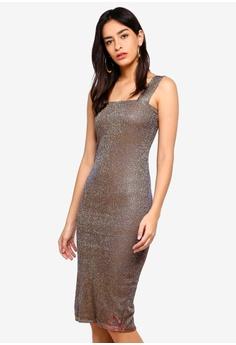 105a9b723b2 Bardot gold Mimi Sparkle Dress 381FFAAAC89836GS 1