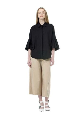 VOV(Voice of Voices) beige Beige Basic Wide Trousers 58FAEAA5A21948GS_1