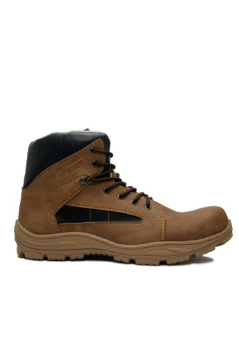 Cut Engineer brown Cut Engineer High Quality Safety Boots Reflector Brown CU226SH59HFCID_1