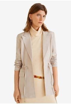45bc5e13b1 Mango grey Linen Blazer Style Jacket C0A0AAA94C4596GS 1
