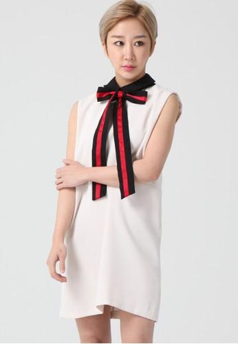 韓流時尚 波點蝴蝶結迷笛esprit 品牌連衣裙 F4022, 服飾, 洋裝
