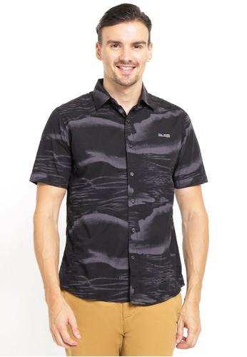 LGS black LGS - Slim Fit - Kemeja Fashion - Gambar Penuh - Hitam CA035AAEF3C0C1GS_1