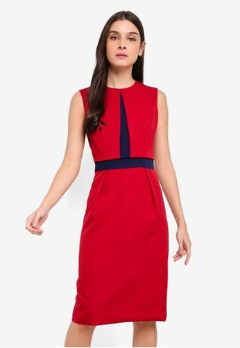 ZALORA red and multi Contrast Semi Formal Dress 569B4AA18323D4GS_1