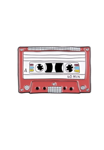 Kings Collection red Cassette Tape Enamel Pins (KCPN1078) 03F9EAC3E2FCF6GS_1