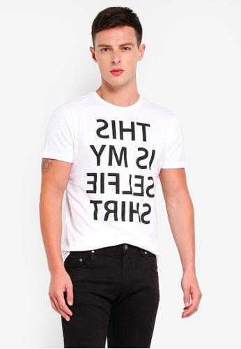 OVS 白色 棉 短袖T恤 7CD16AAAA51940GS_1