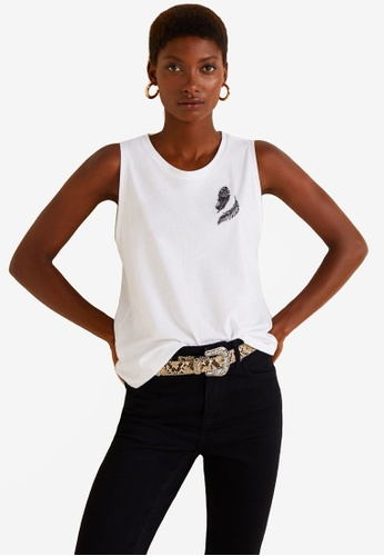 Mango white Embroidered Cotton T-Shirt 3FC89AAEF33186GS_1