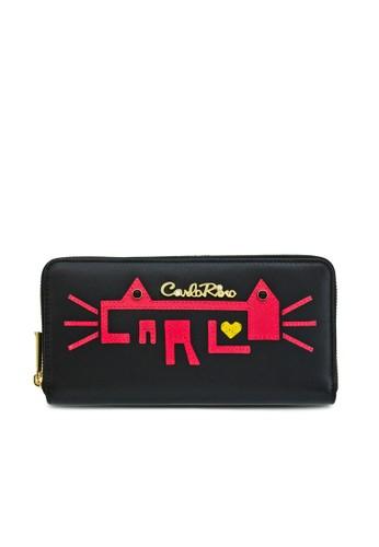 Carlo Rino Black Kitty Wallet