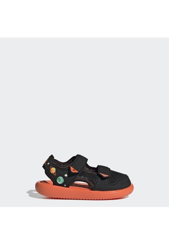 ADIDAS black adidas Comfort Sandals FD165KSD0D9C3EGS_1