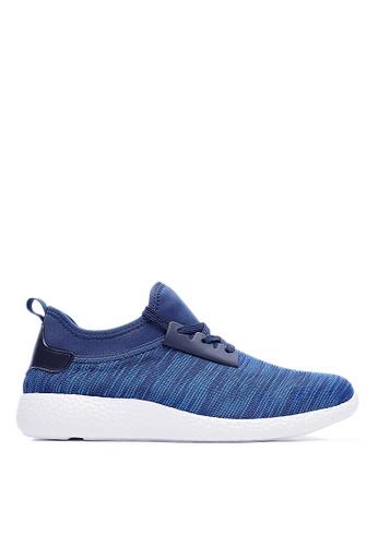 Life8 blue Lightweight Elastic Knit Totem Sneaker-09206-Blue LI286SH13FBMMY_1