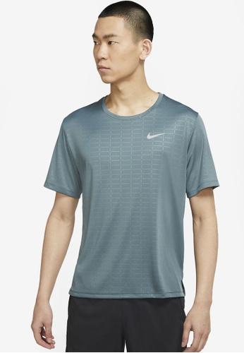 Nike green Men's Miler Run Division Short-Sleeve Tee E6571AAC7D399AGS_1