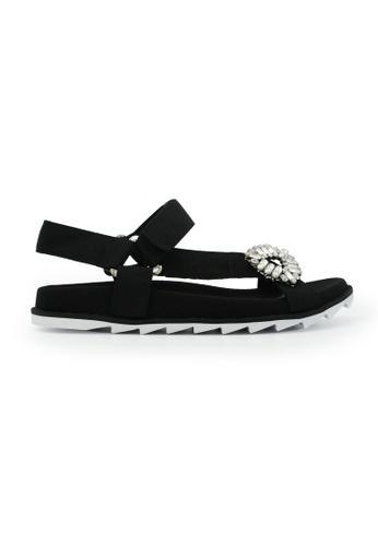Gripz black Evo Open Toe Strappy Sandals 597A7SH52253D3GS_1