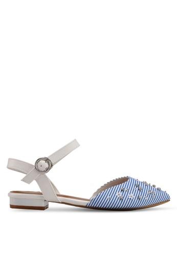 VINCCI blue Strappy Flats CB97ESHF2E1E8DGS_1