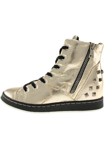 Maxstar 金色 新款韩国鞋20H-7H-TC時尚皮革布混合女金色 US Women Size MA345SH98HAZTW_1