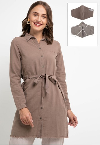 Expand brown Beliyah Blouse 67A95AA8953717GS_1