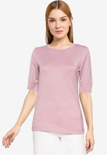 OVS purple Casual T-Shirt B28C9AAA01310EGS_1