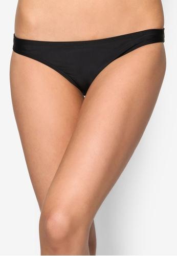 Piha black Solid Separates Hipster Bikini Bottom PI734US77UVUMY_1
