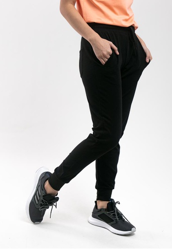 FOREST black Forest Ladies Plain Elastic Cotton Terry Jogger Pant - 810417 C9D8AAAD5DACDAGS_1