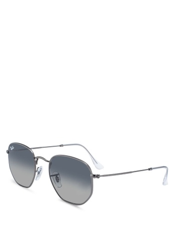 Ray-Ban grey Ray-Ban Hexagonal Flat Lenses RB3548N Sunglasses 1044AGL0E75A90GS_1