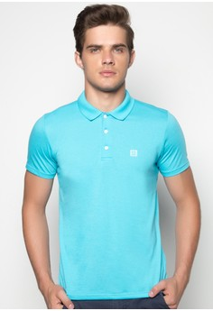 Short Sleeves Mens Basic Polo Tee with Contrast