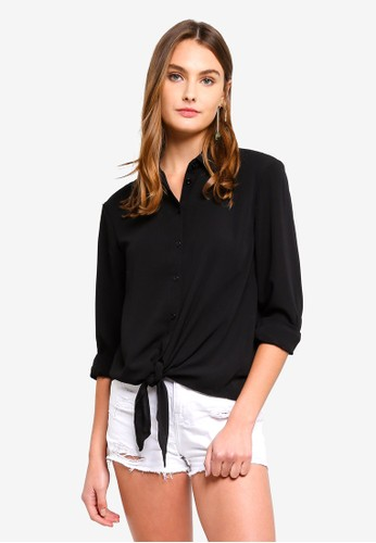 Brave Soul black Long Sleeve Shirt C8F72AAEEFF6CBGS_1