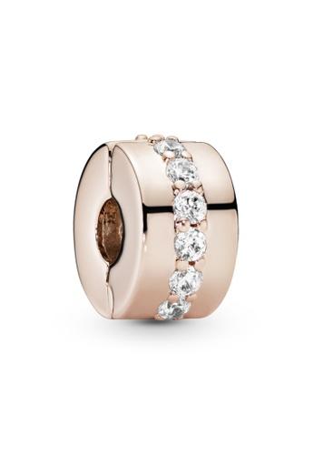 PANDORA gold Pandora Rose Sparkling Row Clip Charm 5917AAC9132C5DGS_1