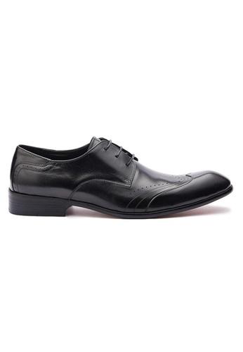 Kings Collection 黑色 威斯頓真皮皮鞋 8FD4ASH76FE379GS_1