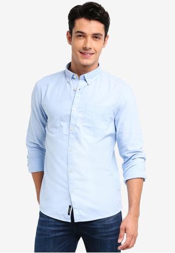 River Island blue Oxford Shirt CB1E5AA3366324GS_1