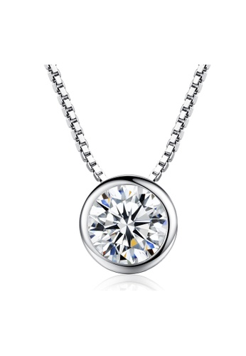 SUNRAIS silver Premium Silver S925 Silver Simple Design Necklace 819CEACC95A76FGS_1