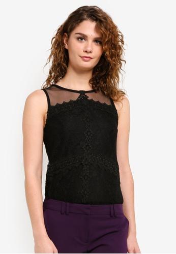 Dorothy Perkins black Lace Shell Top DO816AA0RPHAMY_1