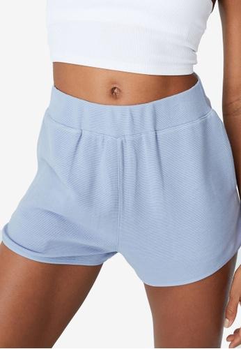 Cotton On Body blue Jacquard Active Shorts E06C3AAE456369GS_1