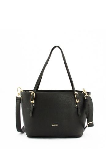 SEMBONIA black SEMBONIA Synthetic Leather Tote Bag E36D2ACDEAC16EGS_1