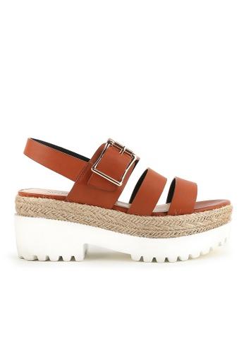 Joy & Peace brown Strappy Sandals JO458SH74YGZHK_1