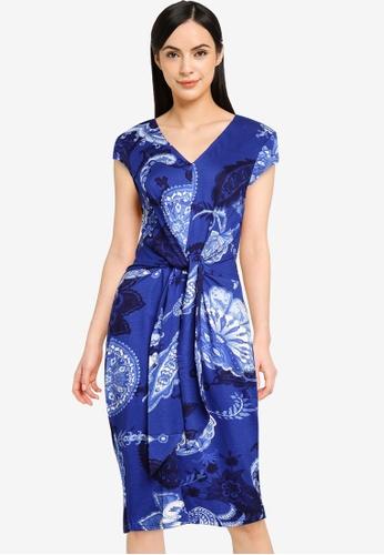 Desigual blue Front Knot Dress 0A951AAF8C2D0CGS_1