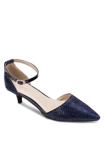蛇紋側鏤空低根鞋zalora 衣服評價, 女鞋, 鞋