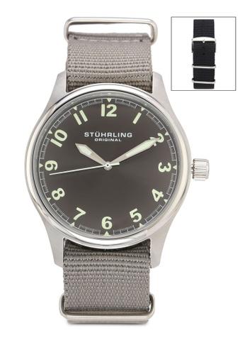 Stuhrling Original grey Grey Dial Interchangeable Straps Watch 978E2AC65D9605GS_1