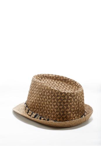 Life8 Straw Panama Hat With Band-05256-Khaki LI248AC2UIAQHK_1