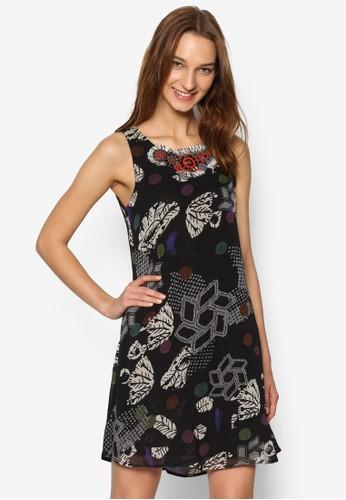 無袖印花連身裙, 服飾, 洋esprit 旺角裝