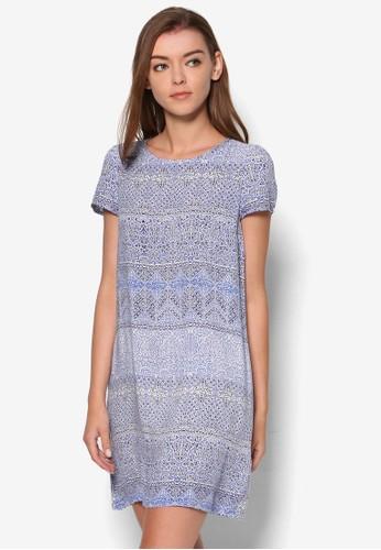 Shorts Sesprit台灣leeve Shift Dress, 服飾, 洋裝