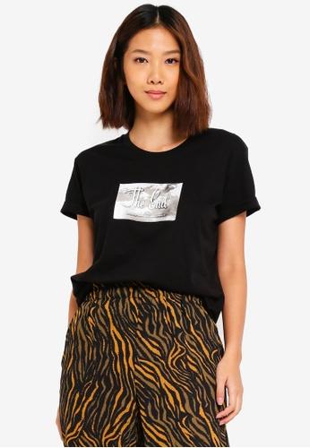 Cotton On black Tbar Fox Graphic T shirt 6E0C0AAE765384GS_1