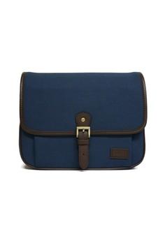 Lockwood Midnight - Genuine Leather Trim DSLR Camera Travel Cross Bag