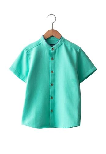 LC Waikiki green Dobby Boy Shirt 4A49EKAE80317CGS_1