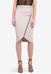 Vesper grey Hayden Pencil Skirt With Zip Detail VE733AA0S79HMY_1