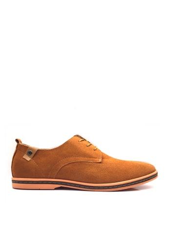Twenty Eight Shoes 褐色 VANSA 牛猄皮休閒鞋  VSM-CK01 D04E1SH0917BB7GS_1