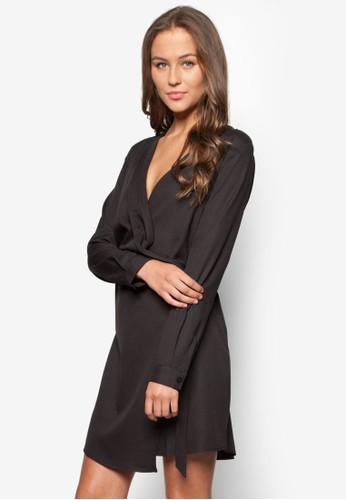 D 環裹飾V 領連身裙, 服飾, esprit 工作洋裝