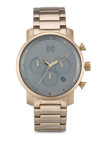MVMT gold MVMT Chrono 40 Watch - Sage Bronze Link MV187AC0SZQNMY_1