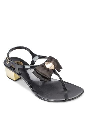 Caesprit門市地址lipa 蝴蝶結夾趾中跟涼鞋, 女鞋, 鞋