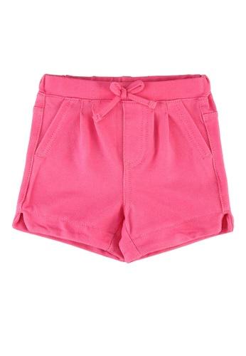 FOX Kids & Baby pink Baby Girls Denim Shorts C024EKAC022263GS_1