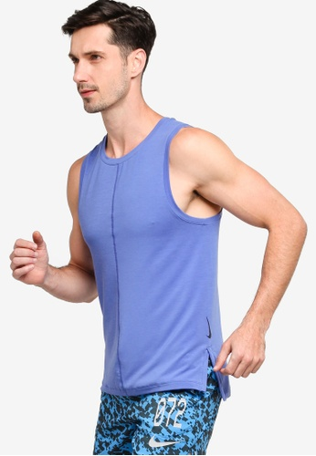 Nike blue Men's Yoga Dri-FIT Tank Top DB087AA558EDABGS_1
