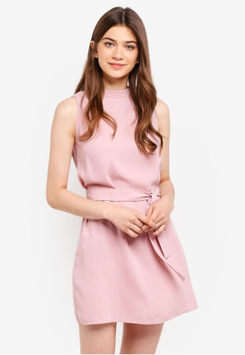 Something Borrowed pink High Neck Swing Dress 6C119AA1F2B8E4GS_1